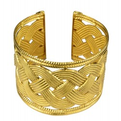 gold plated braided bracelet