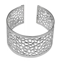 silver plated picasso bracelet