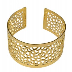 gold plated picasso bracelet