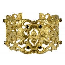 gold plated lily bracelet