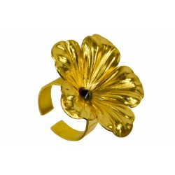 Gold plated strass Flower ring