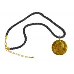 Gold plated newart women medallion pendant