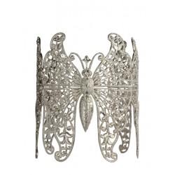 Bracelet 3 Papillons Argenté