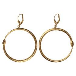 gold plated snake earrings
