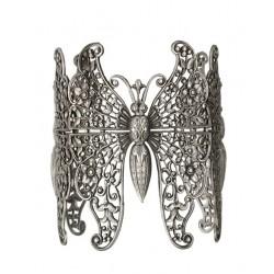 Bracelet 3 Papillons Vieil Argent