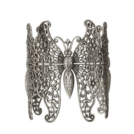 """3 """"Old Silver"""" Butterflies Bracelet"""