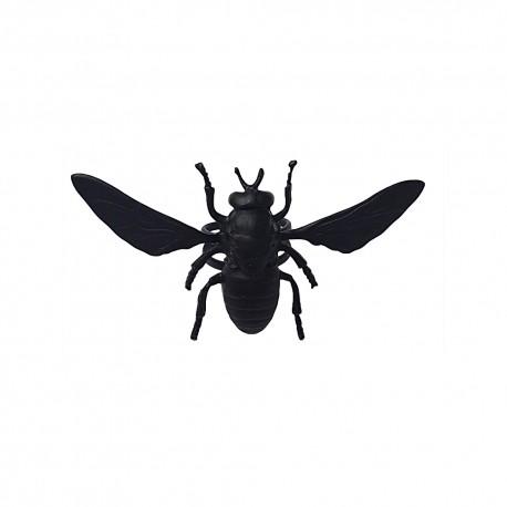 bague abeille noire