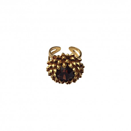 GOLD PLATED ARTICHOKE WITH STRASS RING