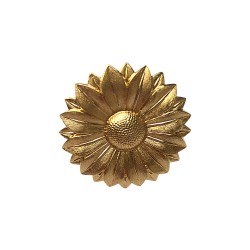 GOLD PLATED SUNFLOWER RING