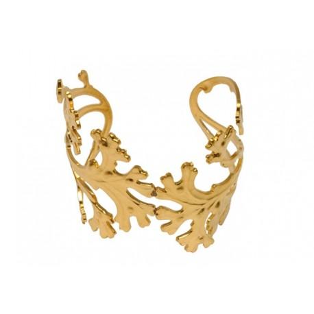Bracelet Algue Doré