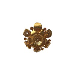 GOLD PLATED FLOWER WITH SEVERAL STRASS RING