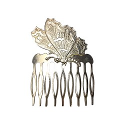 SILVER PLATED BUTTERFLY COMB