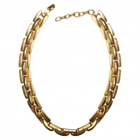 gold plated large link necklace