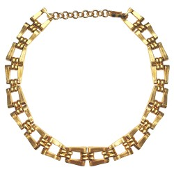 GOLD PLATED LINK NECKLACE