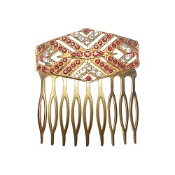 GOLD PLATED ART DECO WITH STRASS COMB