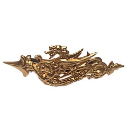 GOLD PLATED DRAGON HAIR CLIP