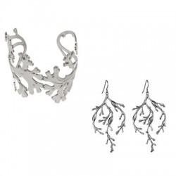 Silvery Alga (Bracelet + Earings)