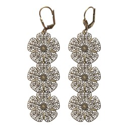 OLD GOLD FILIGREE EARRINGS