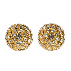 Gold plated with white swarovski crystal earrings
