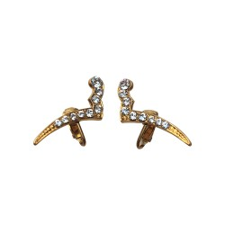 GOLD PLATED SIMILI WITH STRASS EARRINGS