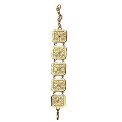 GOLD PLATED ETHNICAL SQUARED BRACELET