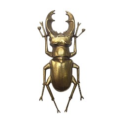 OLD GOLD PLATED BEETLE BROOCH