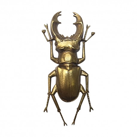 OLD GOLD PLATED SCARABEE BROOCH