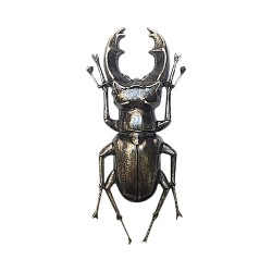 OLD SILVER PLATED BEETLE BROOCH