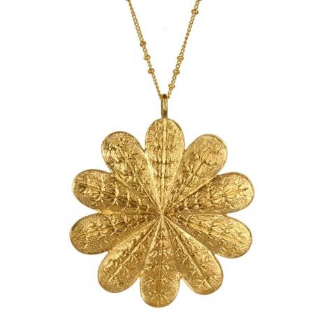 Silvery Flower Pendant