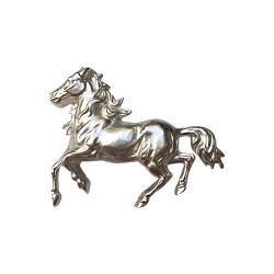 SILVER PLATED HORSE BROOCH