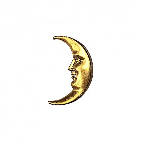 GOLD PLATED MOON BROOCH
