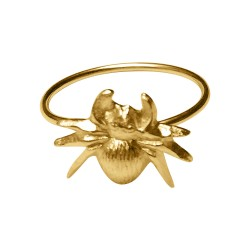 GOLD PLATED SPIDER RING