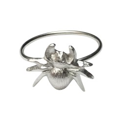 SILVER PLATED SPIDER RING
