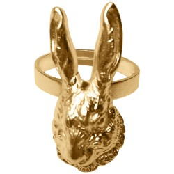 GOLD PLATED RABBIT RING