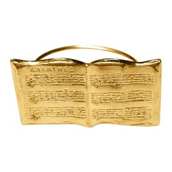 GOLD PLATED BOOK RING