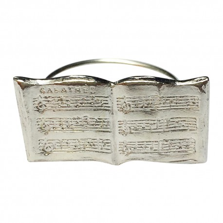 SILVER PLATED BOOK RING