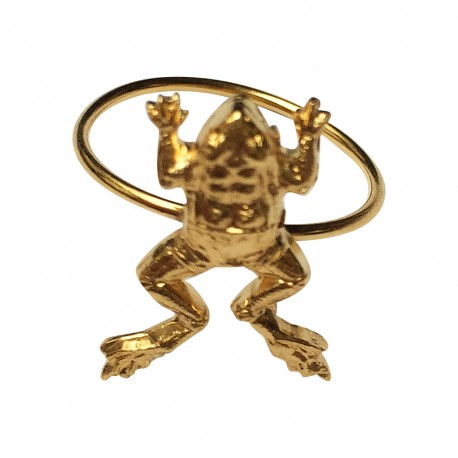 GOLD PLATED FROG RING