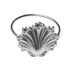 SILVER PLATED SHELL RING