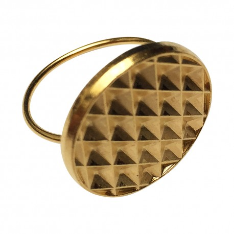 GOLD PLATED BUTTON RING