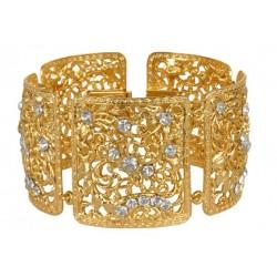 Bracelet Carré Filigrané Doré
