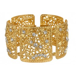 Golden Square Filigree Bracelet
