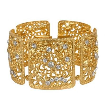 Golden Square Filigree Bracelet