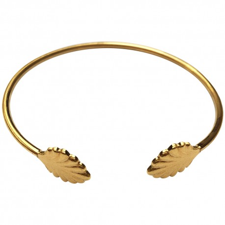 GOLD PLATED SHELL BRACELET