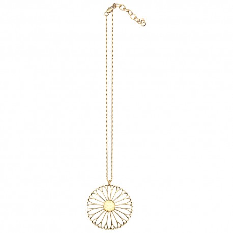 GOLD PLATED FLOWER WITH CHAIN PENDANT