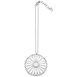 SILVER PLATED FLOWER WITH CHAIN PENDANT