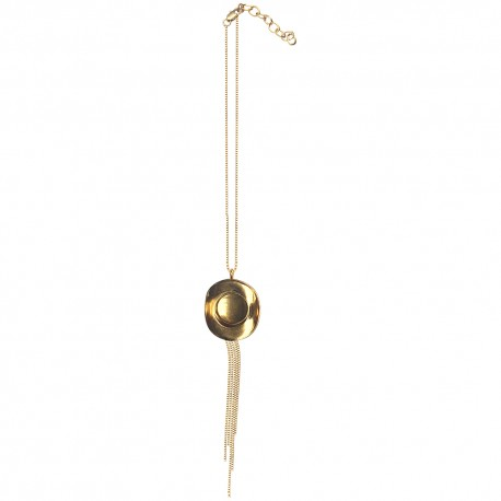 GOLD PLATED HAT WITH CHAIN PENDANT