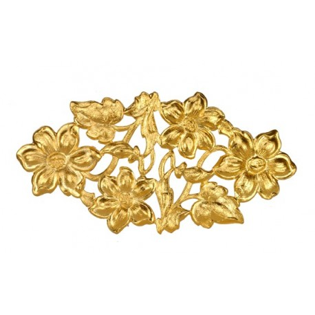 Golden Flower Barette