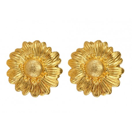 Golden Daisy Earings