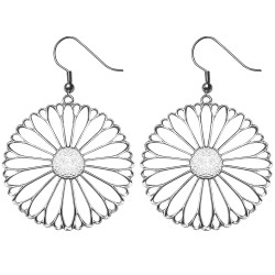 SILVER PLATED FLOWER EARRINGS