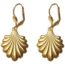 GOLD PLATED SHELL EARRINGS